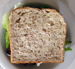 Vegemite & lettuce sandwich