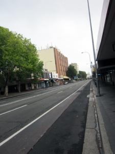 empty street!