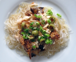 leftover roast chicken and glass noodles