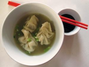 wonton dumplings in soup