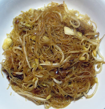 """char bee hoon"" - fried vegetarian vermicelli, Singapore hawker style"
