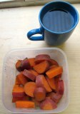 more sweet potato for tomorrow, and the yummy soothing drink!