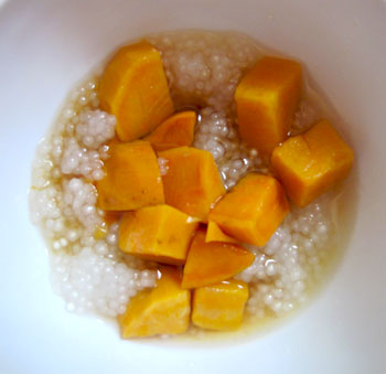 sago, sweet potato and palm sugar