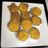 Orange pulp cupcakes.