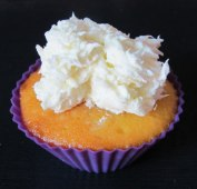 Rebellion: cupcake with coconut icing.