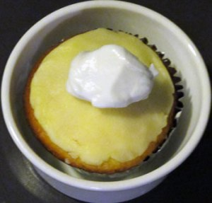 Lemon Cupcake with Coconut Cream