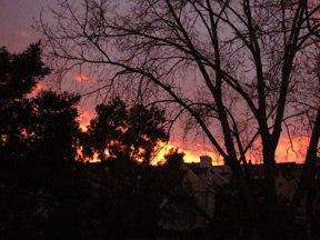 Fiery sunrise...