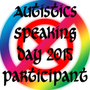 Autistics Speaking Day Logo