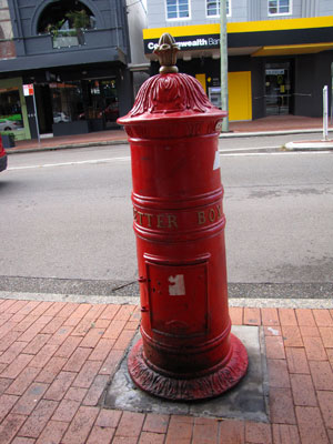 I love the old red postboxes.