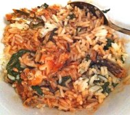 sardines, spinach and rice