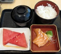 My own humble repetitions - Salmon Sashimi rice set