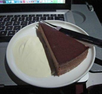 Birthday Chocolate Cheesecake Inflight