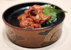 Mini marinated octopus - savoury chewiness Japanese style