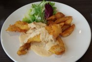 Battered Fish with Salted Egg Sauce