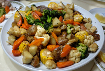 The roasted veggies were amazingly yummy!