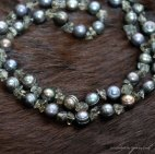 Black river pearls and black quartz necklace for mum - by LaLaLouBelle.