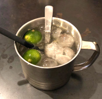 Sour Plum and lime drink
