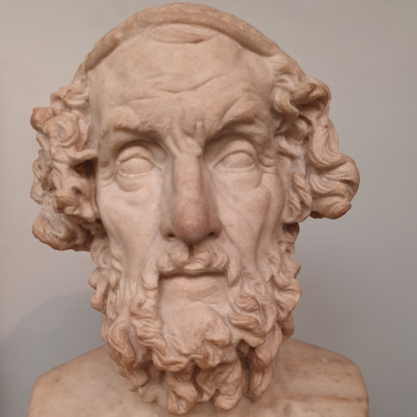 Bust of an Ancient Greek, a people renowned for thinking about the complexities of human existence